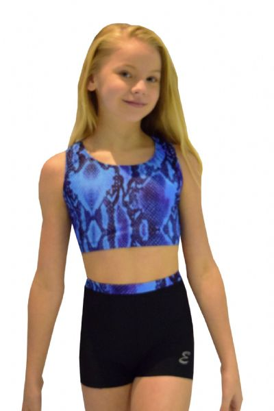 Blue Snake Print Shorts and Crop Top Set From £32.95
